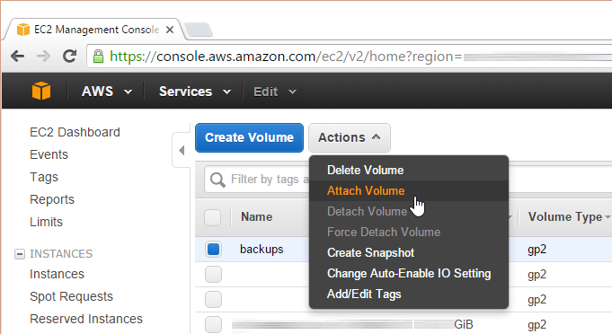AWS EC2: attaching an EBS volume to an instance