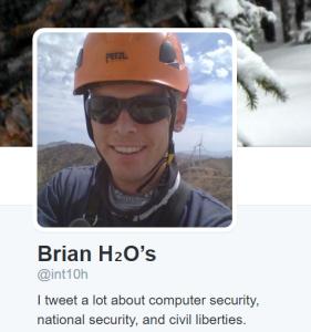 Brian H2O's Twitter profile