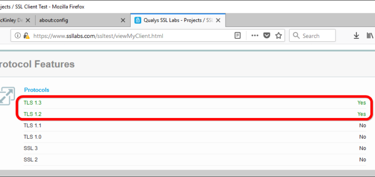 TLS tune-up: how to restrict Firefox to TLS v1.3 and v1.2 to protect from phishing attacks